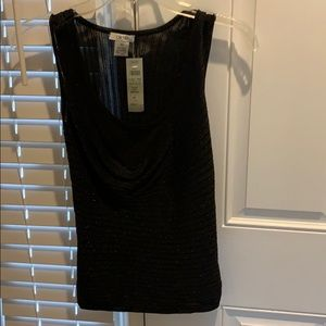 Cache XS NWT Women's Black Sparkly Top